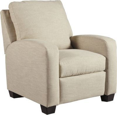 Ashley Ayanna Nuvella Sand Low-Leg Recliner