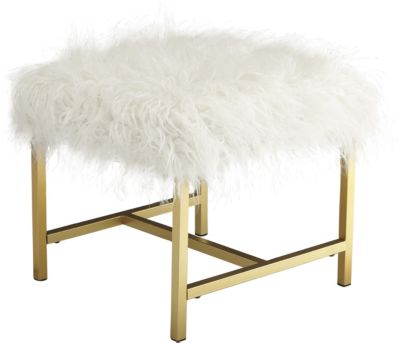 Ashley Elissa Faux Fur Stool
