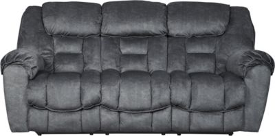 Ashley Capehorn Gray Reclining Sofa