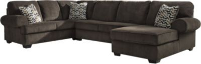 Ashley Jinllingsly Chocolate 3-Piece Sectional