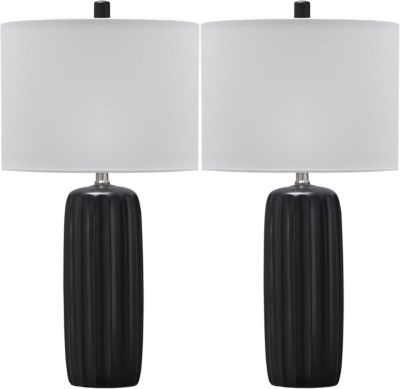Ashley Adorlee Black Table Lamp (Set of 2)