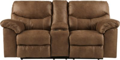 Ashley Boxberg Brown Reclining Console Loveseat