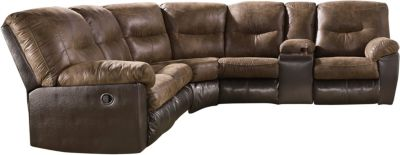 Ashley Leonberg Brown 2-Piece Reclining Sectional