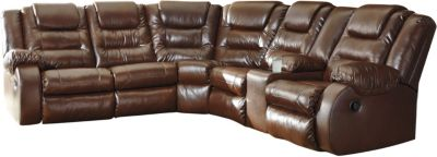 Ashley Walgast Brown 2-Piece Reclining Sectional