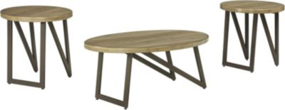 Ashley Dougetti Coffee Table & 2 End Tables