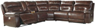 Ashley Bancker 6-Piece Leather Power Reclining Sectional