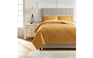 Ashley Raleda Ochre 3-Piece King Coverlet Set