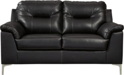 Ashley Tensas Black Loveseat