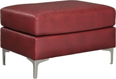 Ashley Tensas Crimson Ottoman