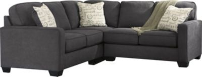 Ashley Alenya Charcoal Left-Side Sofa 2-Piece Sectional
