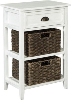Ashley Oslember Accent Table with Baskets