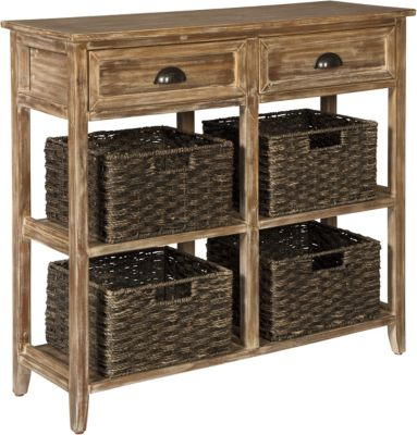 Ashley Oslember Console Accent Table with Baskets