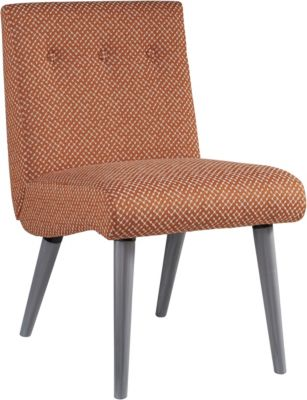Ashley Zittan Papaya Armless Accent Chair