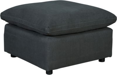 Ashley Savesto Charcoal Oversized Ottoman