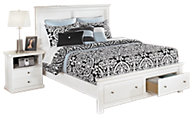 Ashley Bostwick Shoals White Queen Storage Bed