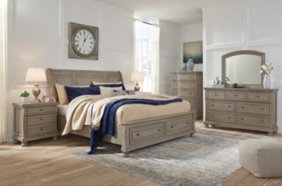 Ashley Lettner 4-Piece King Sleigh Bedroom Set