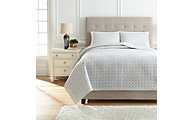 Ashley Mayda Grey 3-Piece Queen Quilt Set