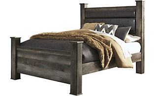 Ashley Wynnlow King Poster Bed