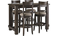 Ashley Drewing Bar Table & 4 Stools