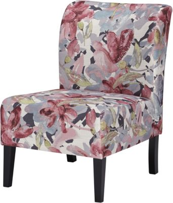 Ashley Triptis Pink Floral Accent Chair