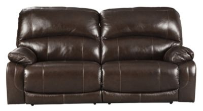 Ashley Hallstrung Brown Power Recline Leather Sofa