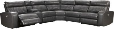 Ashley Samperstone 6-Piece Power Recline Sectional