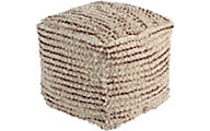 Ashley Jorge Brown/Cream Pouf