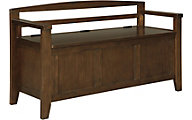 Ashley Charvanna Brown Storage Bench