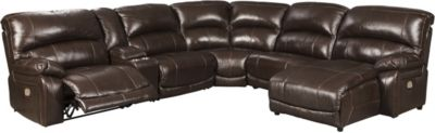 Ashley Hallstrung 6-Piece Leather Power Sectional