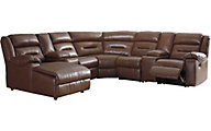 Ashley Coahoma Brown 7-Piece Reclining Sectional