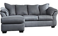 Ashley Darcy Steel Sofa Chaise