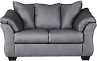 Ashley Darcy Steel Loveseat