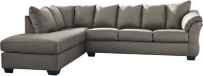 Ashley Darcy Cobblestone 2-Piece Sectional