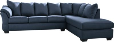 Ashley Darcy Blue 2-Piece Sectional