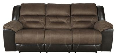 Ashley Earhart Brown Reclining Sofa