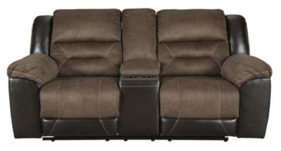 Ashley Earhart Brown Reclining Loveseat