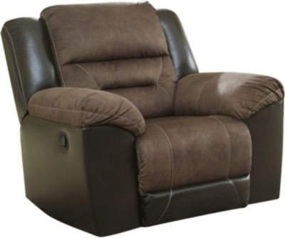 Ashley Earhart Brown Rocker Recliner