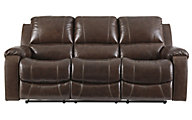 Ashley Rackingburg Leather Reclining Sofa
