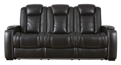 Ashley Party Time Power Headrest Sofa with Drop Down