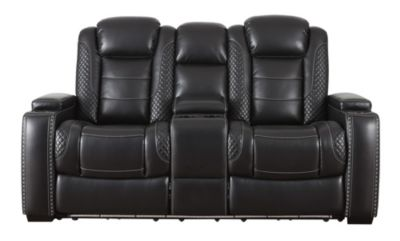 Ashley Party Time Power Headrest Console Loveseat