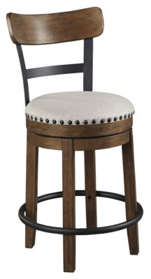Ashley Valebeck Brown Swivel Counter Stool