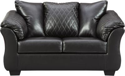 Ashley Bertrillo Black Loveseat