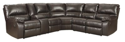Ashley Warstein Brown 3-Piece Reclining Sectional