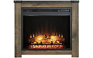 Ashley Trinell Oak Log Fireplace with Insert