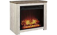 Ashley Willowton White Log Fireplace with Insert