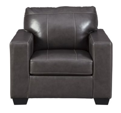Ashley Morelos Gray Leather Chair