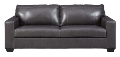 Ashley Morelos Gray Leather Queen Sleeper