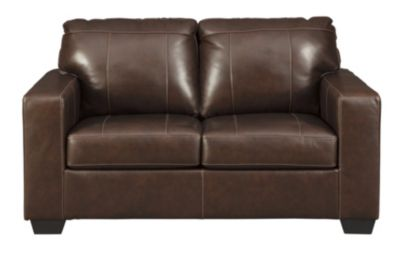 Ashley Morelos Chocolate Leather Loveseat