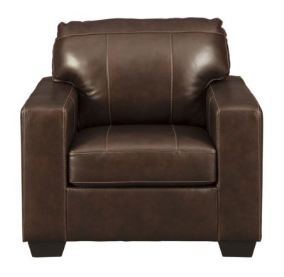 Ashley Morelos Chocolate Leather Chair