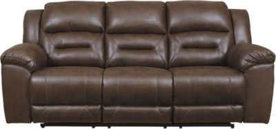Ashley Stoneland Brown Reclining Sofa